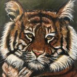 Tiger Painting Donated by Dr. Robert Brewster